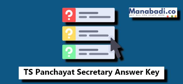TS Panchayat Secretary Answer Key 2018 Paper 1,2 tspri cgg